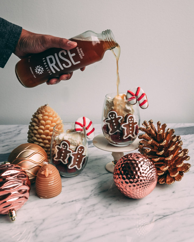 Isabelle Cheng Gingerbread Float RISE Kombucha